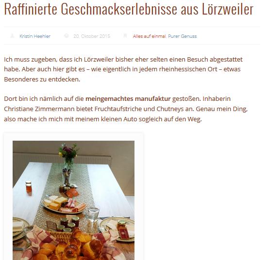 Raffiniertes aus Lörzweiler