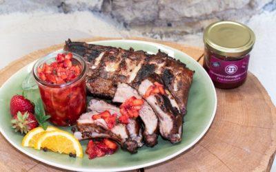Rezept Spareribs Sous Vide an Erdbeer-Salsa