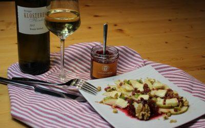 Rezept Birnen Carpaccio mit Rote Bete Birne Chutney