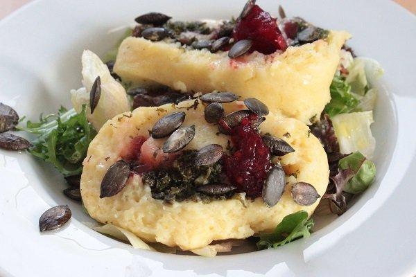 Rezept Kartoffelrolle mit Spinat und Gorgonzola