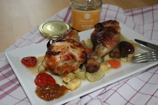 Chicken Drumsticks in Aprikosenmarinade